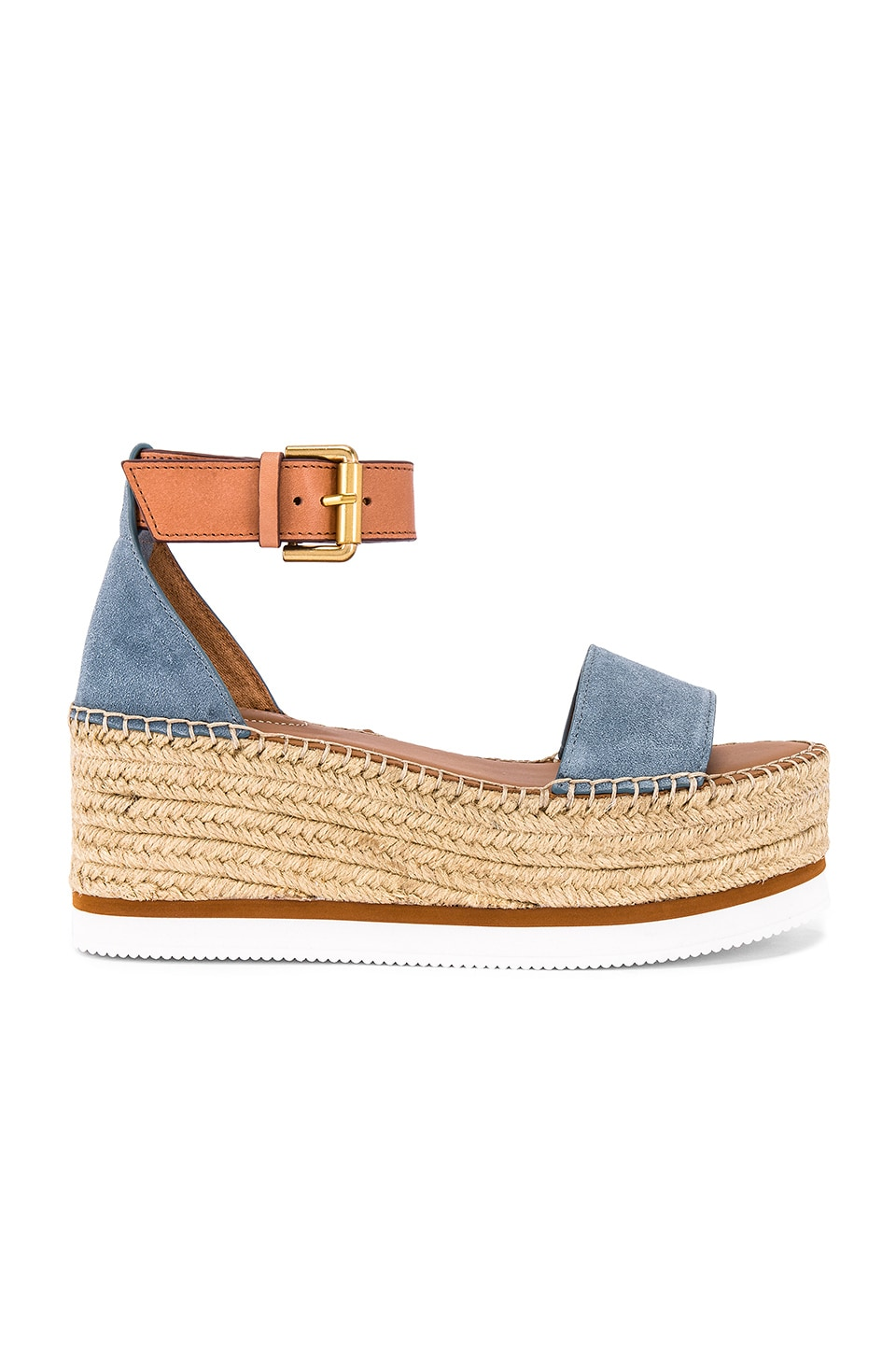 See By Chloe Glyn Platform Sandal in Blue