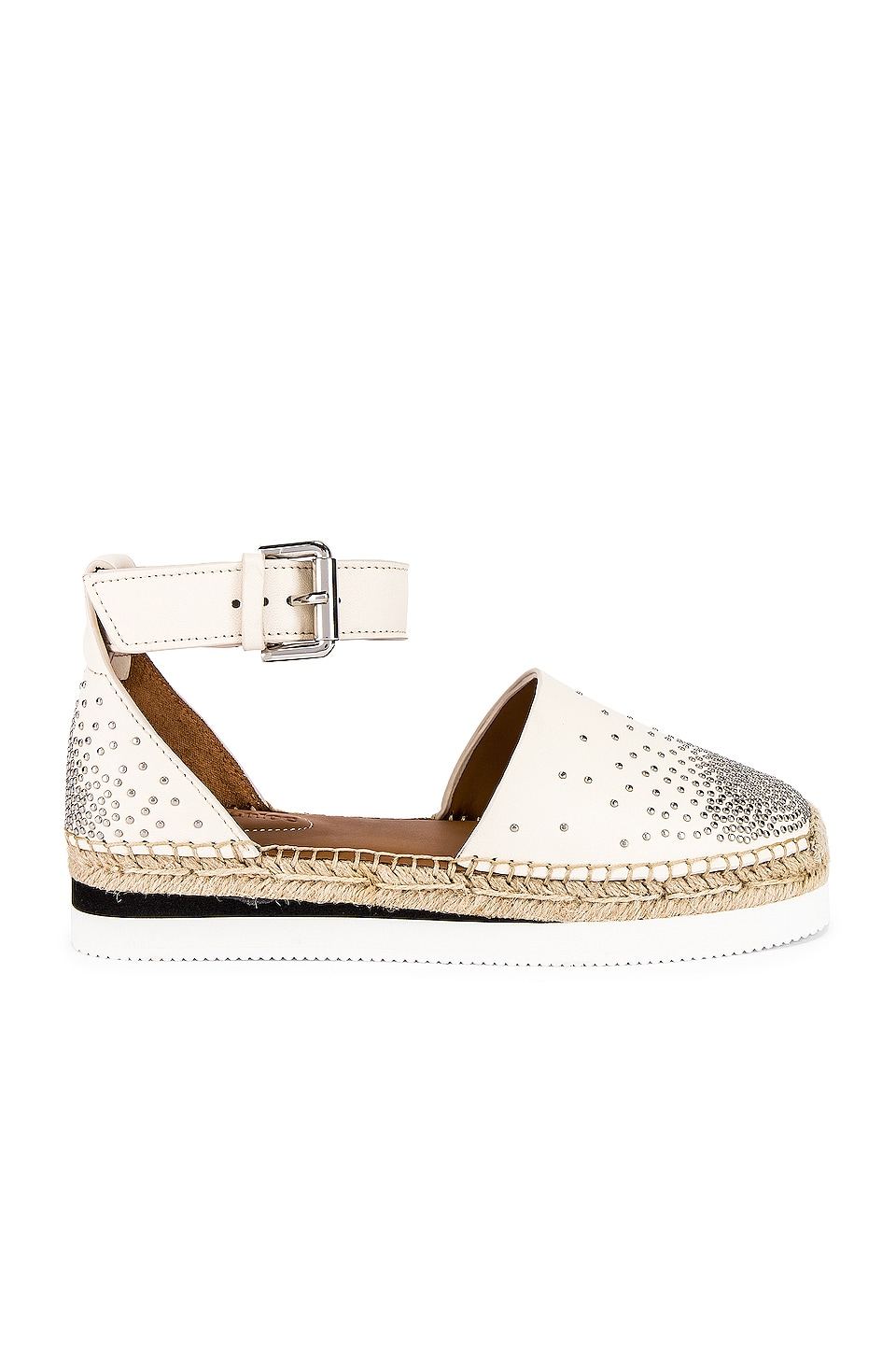 See By Chloe Studded Glyn Espadrille in Gesso
