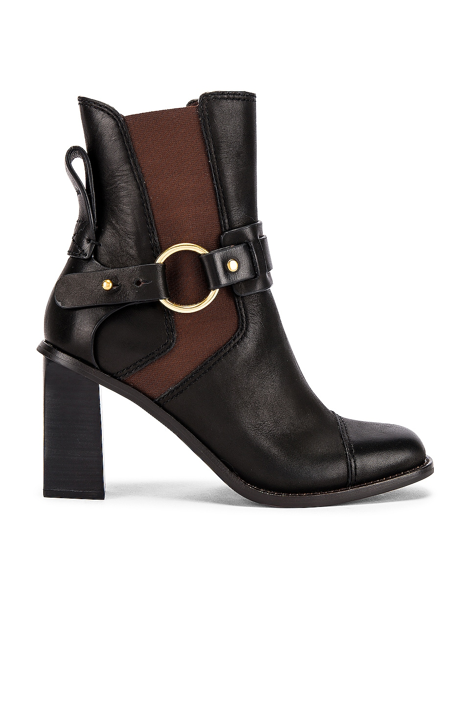 See By Chloe Alexis Bootie in Natural Calf & Nero