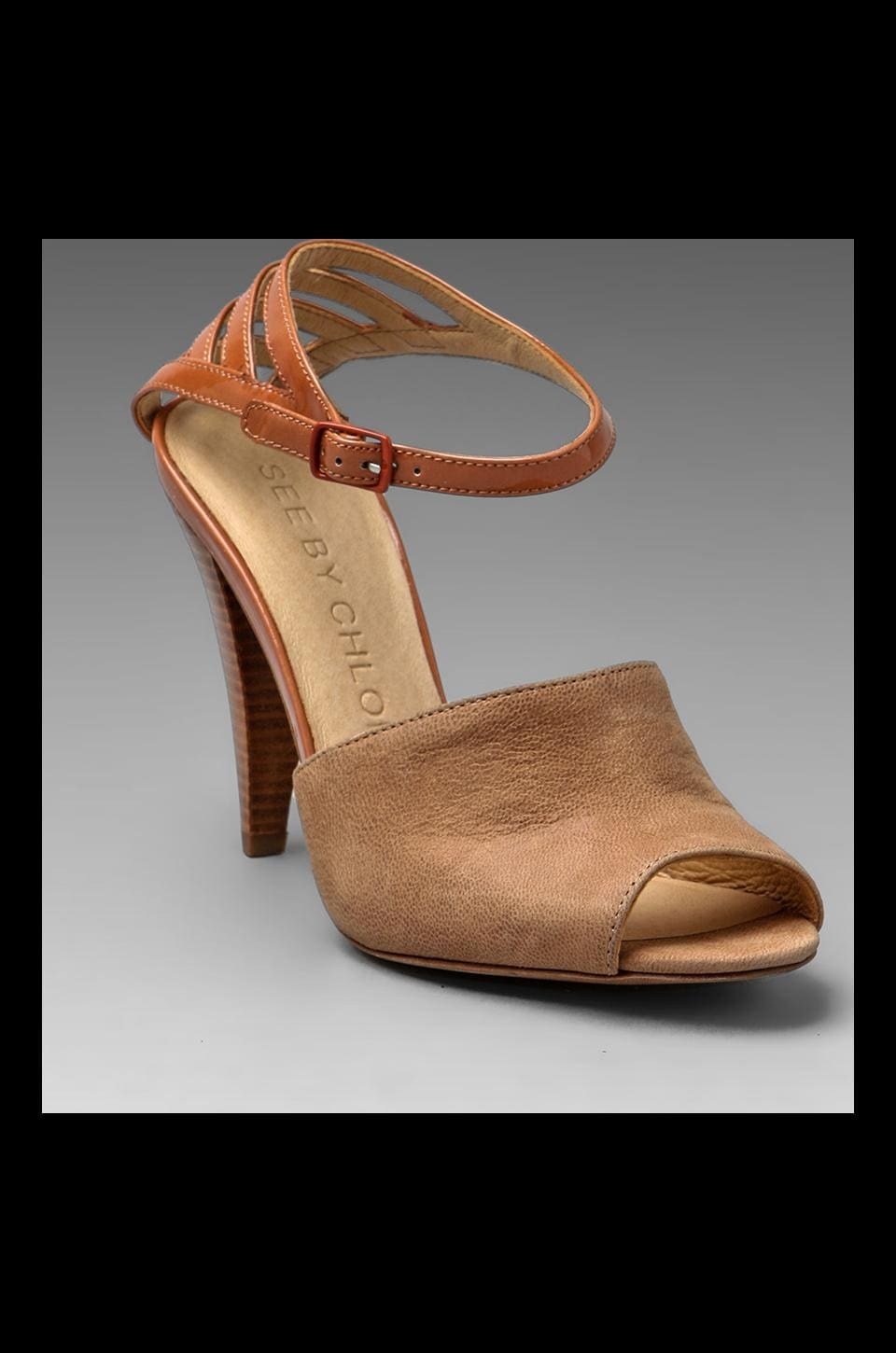 See By Chloe Zaqua Pump in Camel Rose