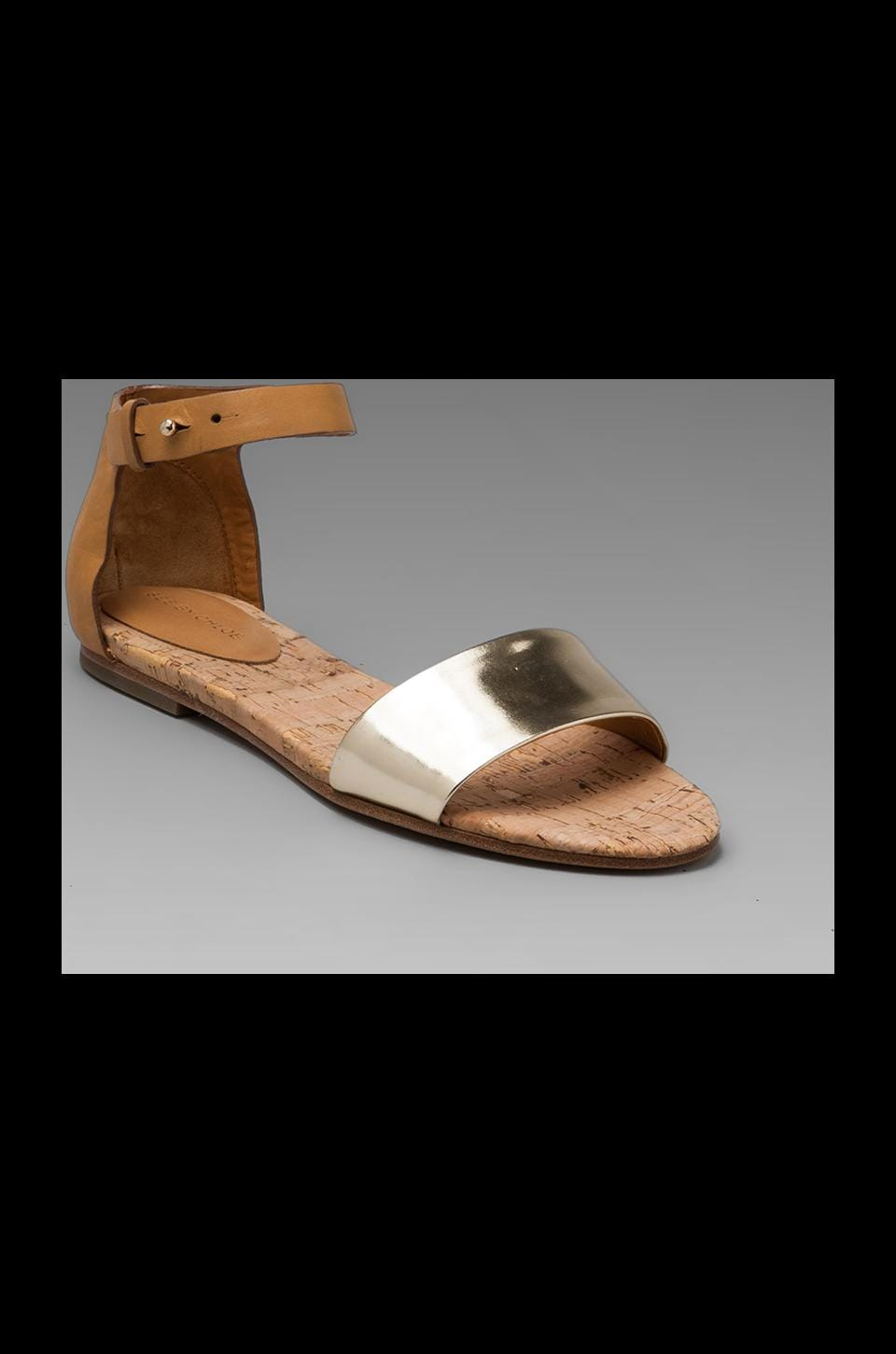 See By Chloe SF Hera Ankle Strap Sandal in Gold