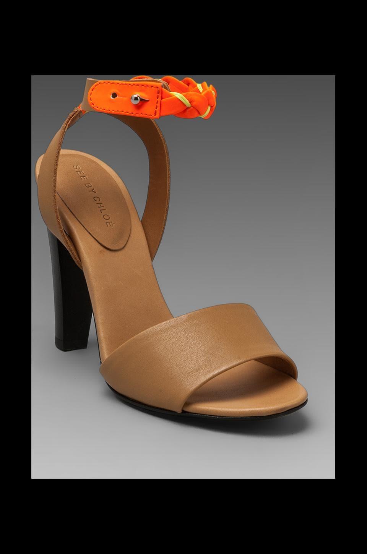 See By Chloe F Summer Heel in Orange