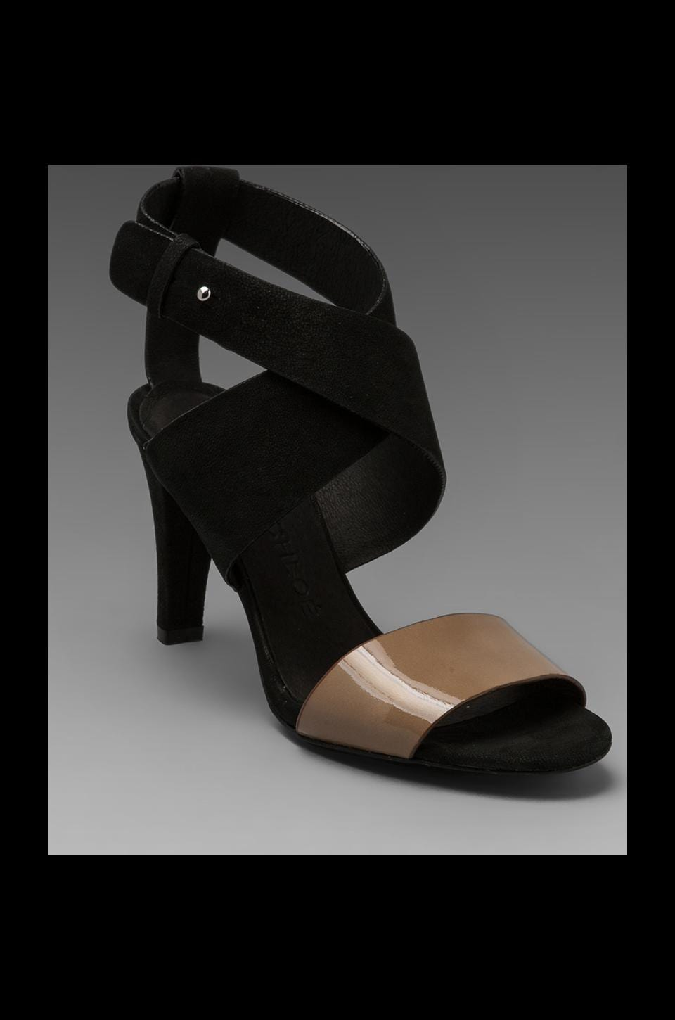 See By Chloe X Summer Strappy Heel in Black and Taupe