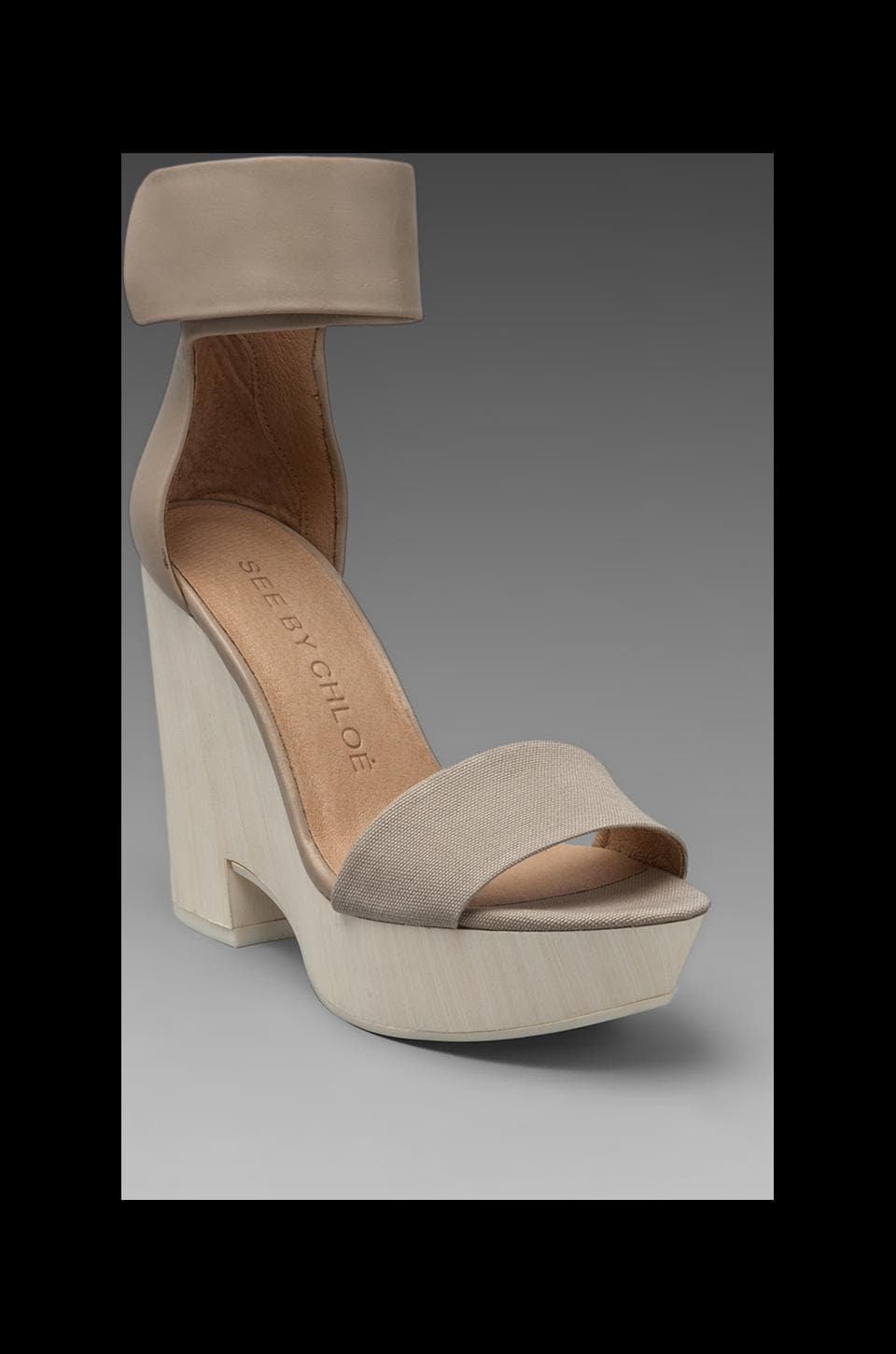See By Chloe X Gypse Sandal Wedge in Light Grey