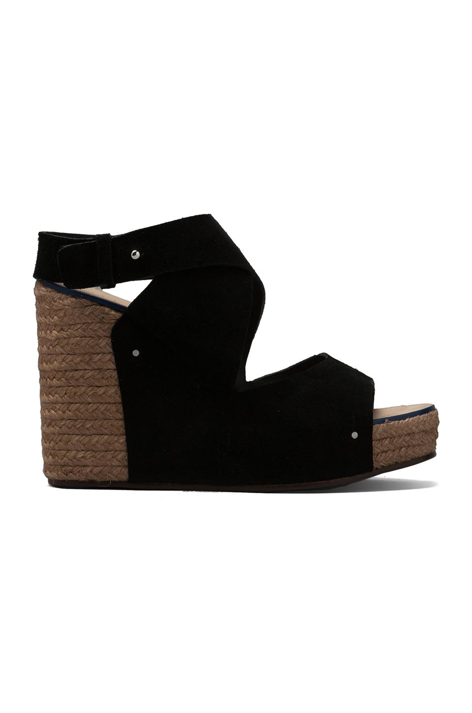See By Chloe Criss Cross Wedge Espadrille in Black