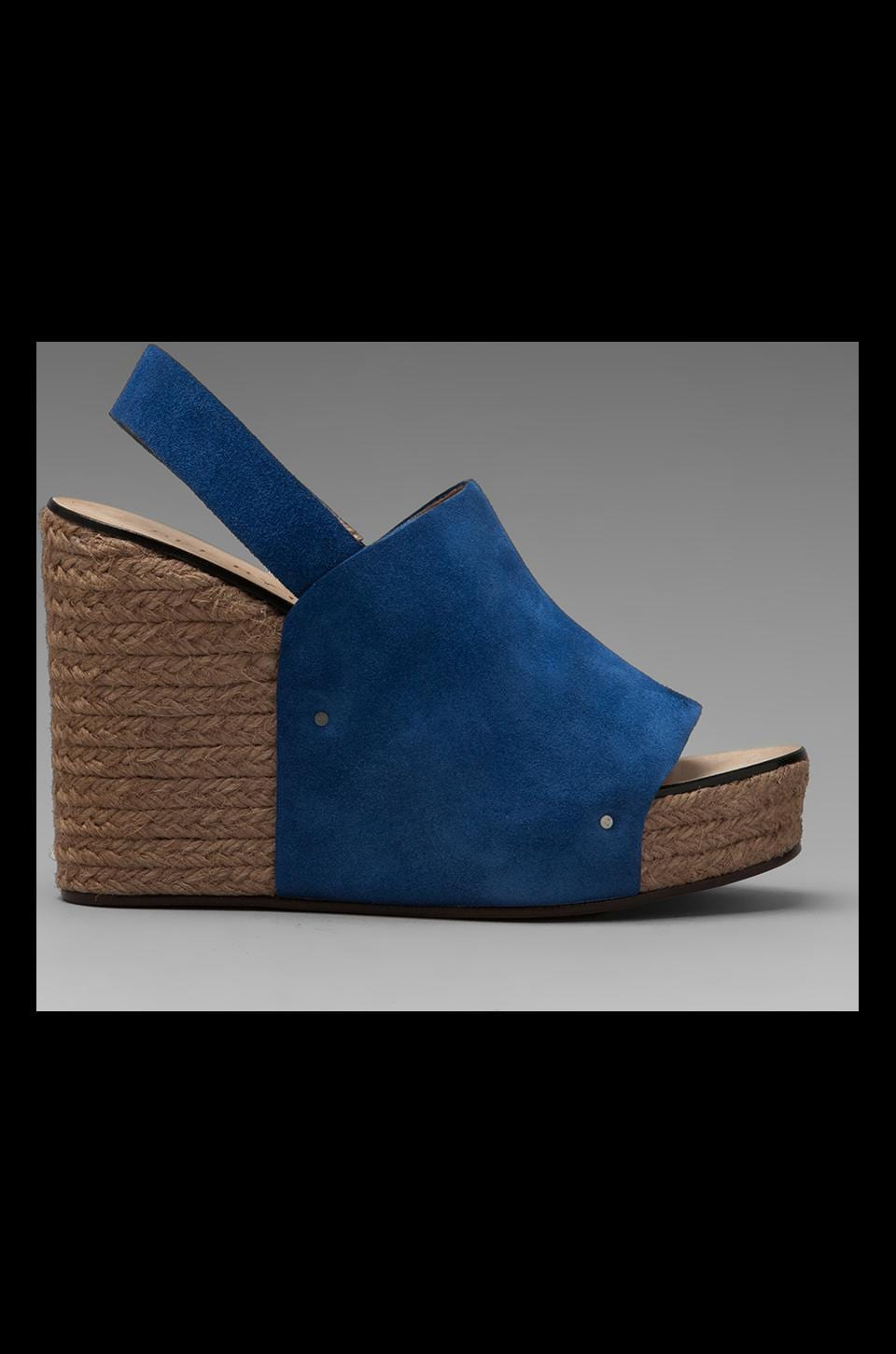 See By Chloe Ankle Strap Espadrille Wedge in Blue