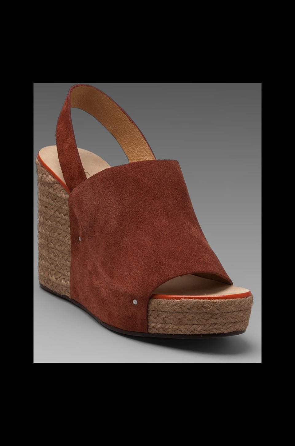 See By Chloe Ankle Strap Espadrille Wedge in Rust