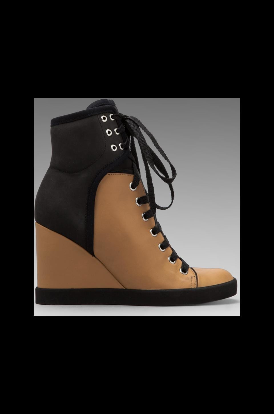 See By Chloe Sneaker Wedge in Tan/Black