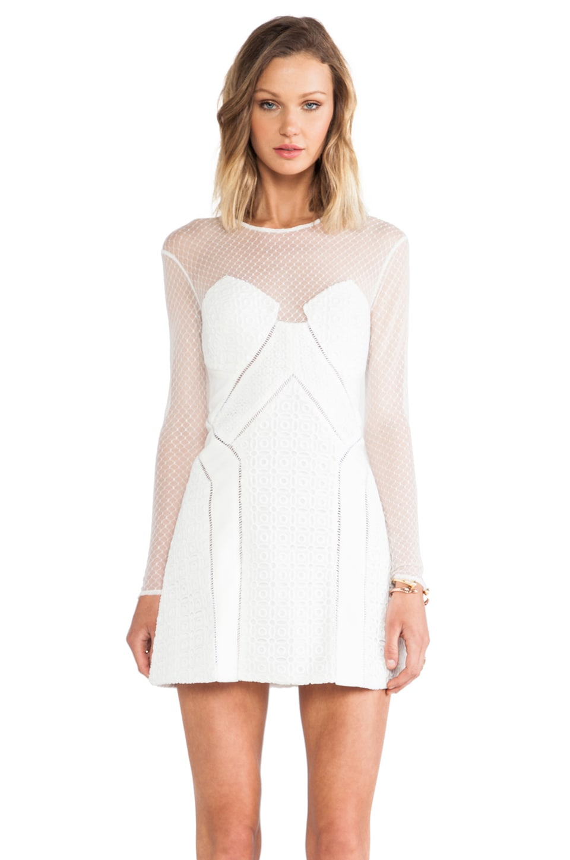 self-portrait White Night A-Line Dress in White