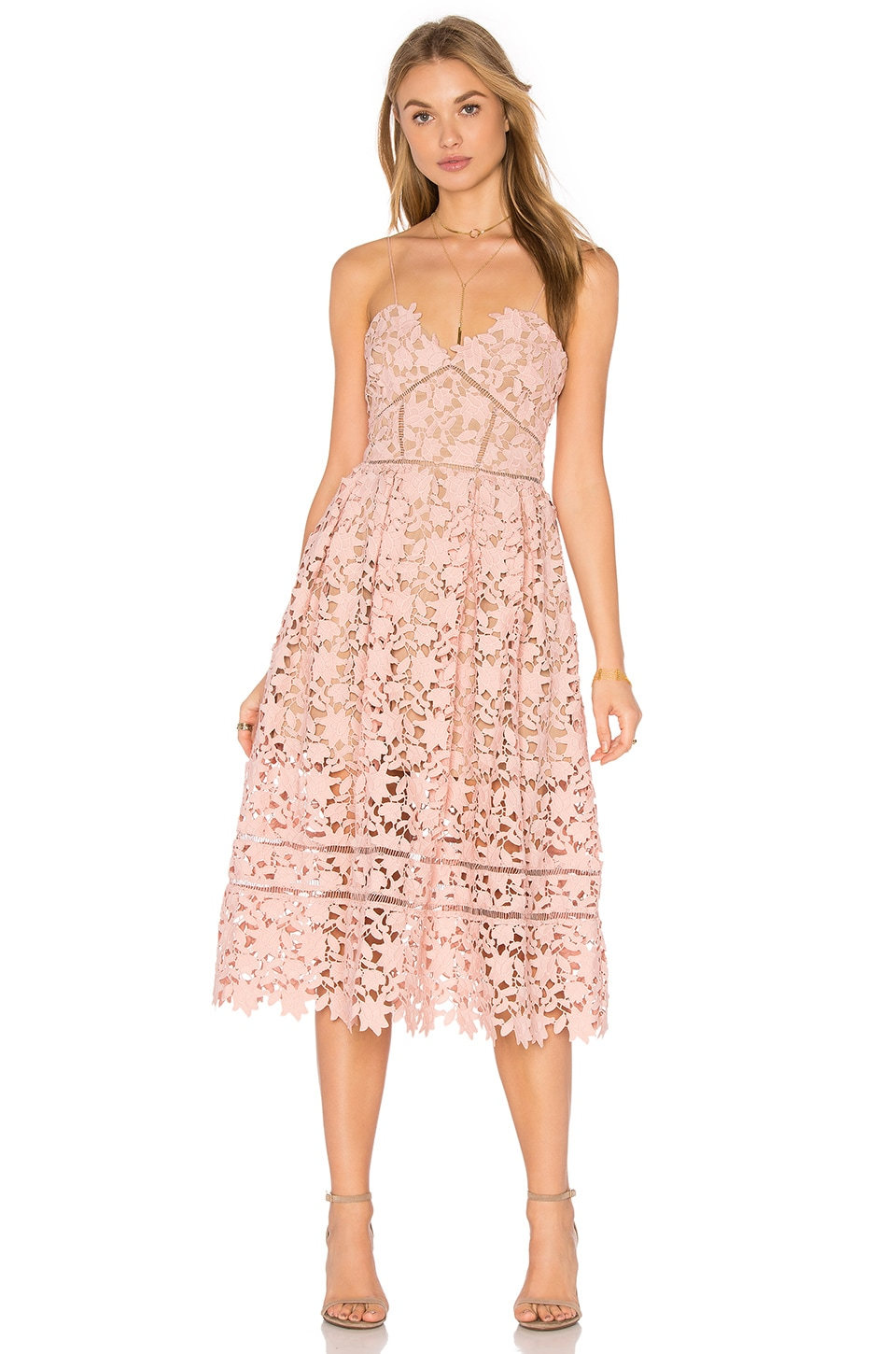 self-portrait Azaelea Dress in Blush Pink