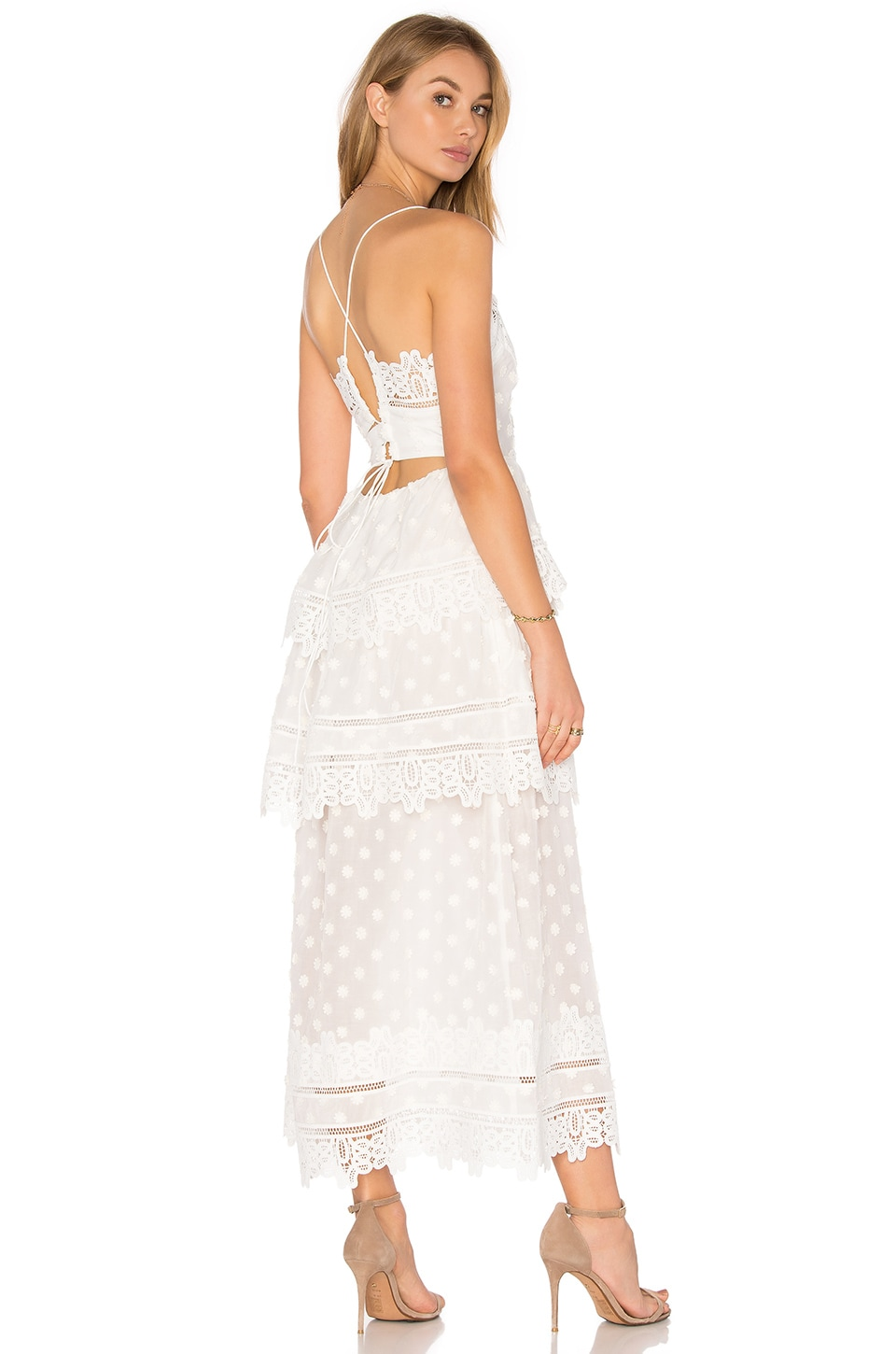 self-portrait Ivy Lace Dress in White