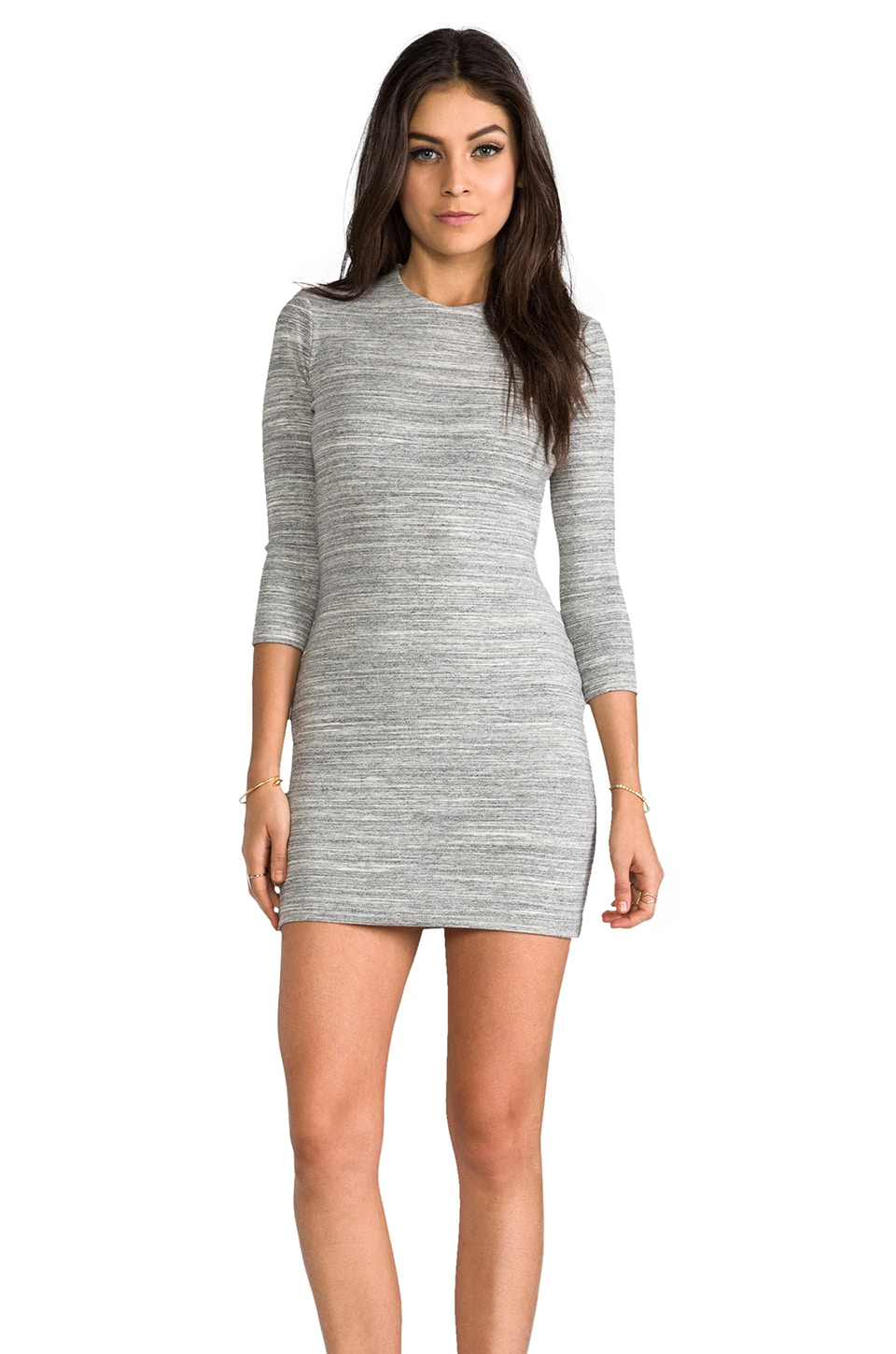 sen Paulina Dress in Heather Grey Stripe