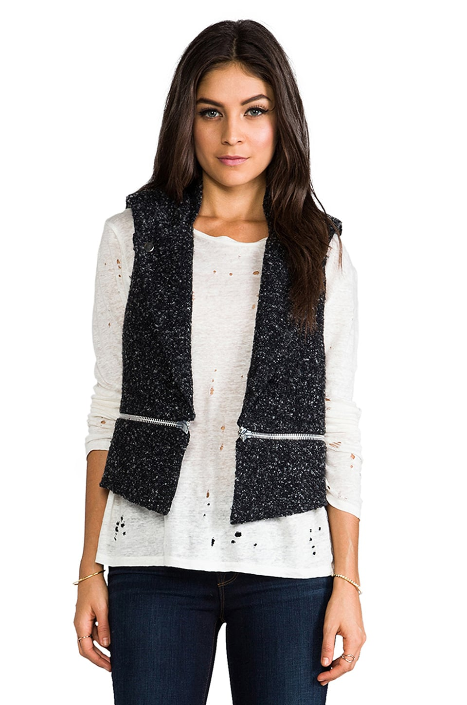 sen Vanessa Vest in Black/Grey