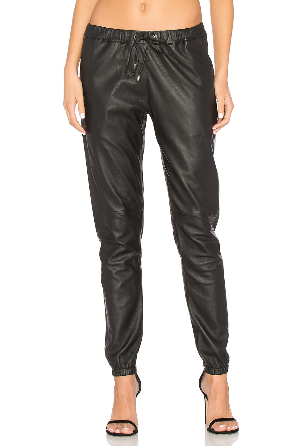 sen Camden Leather Pants in Black