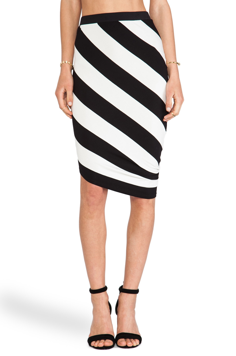 sen Jax Skirt in Black & White Stripe
