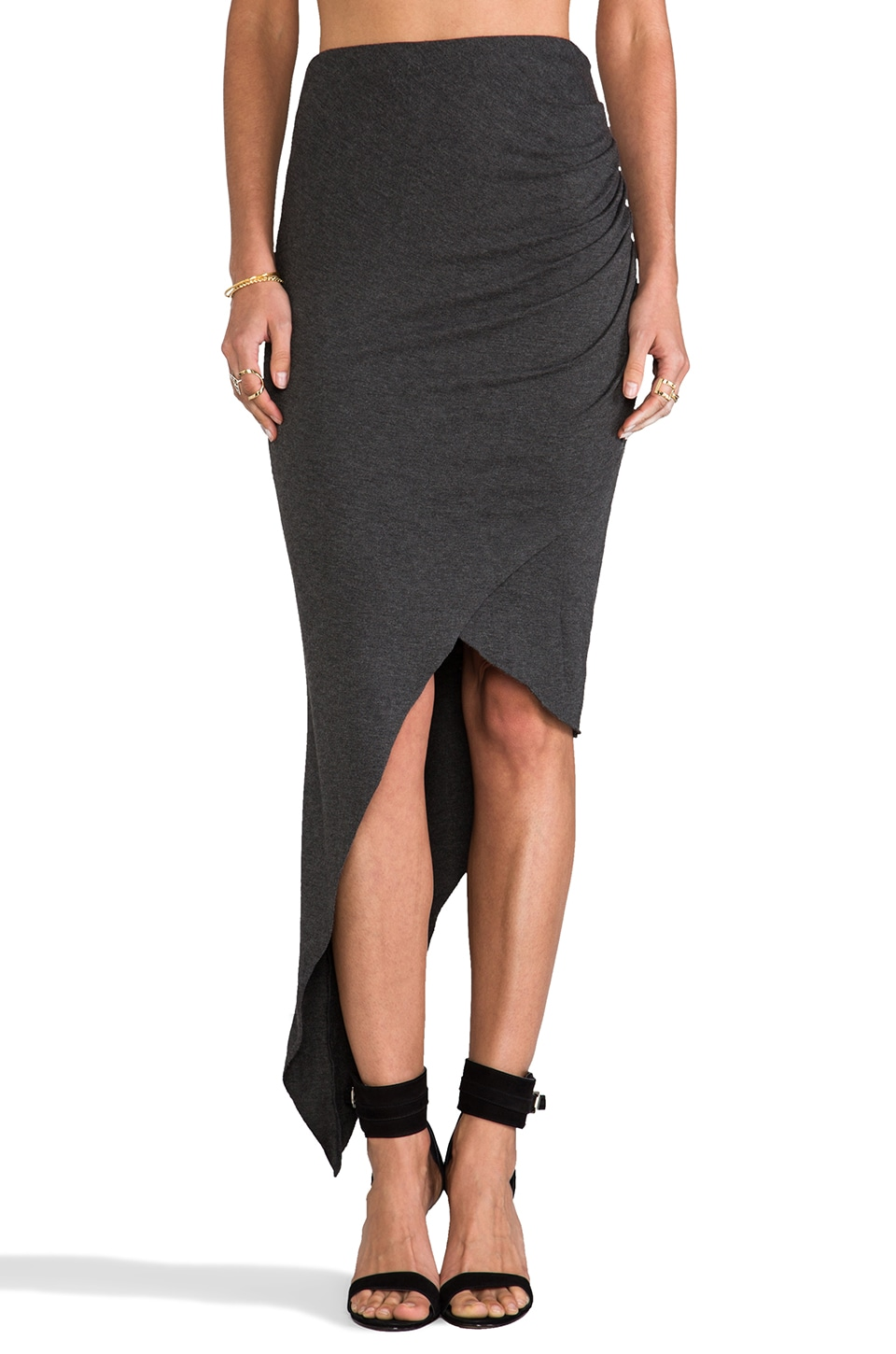 sen Estela Skirt in Charcoal Heather Grey