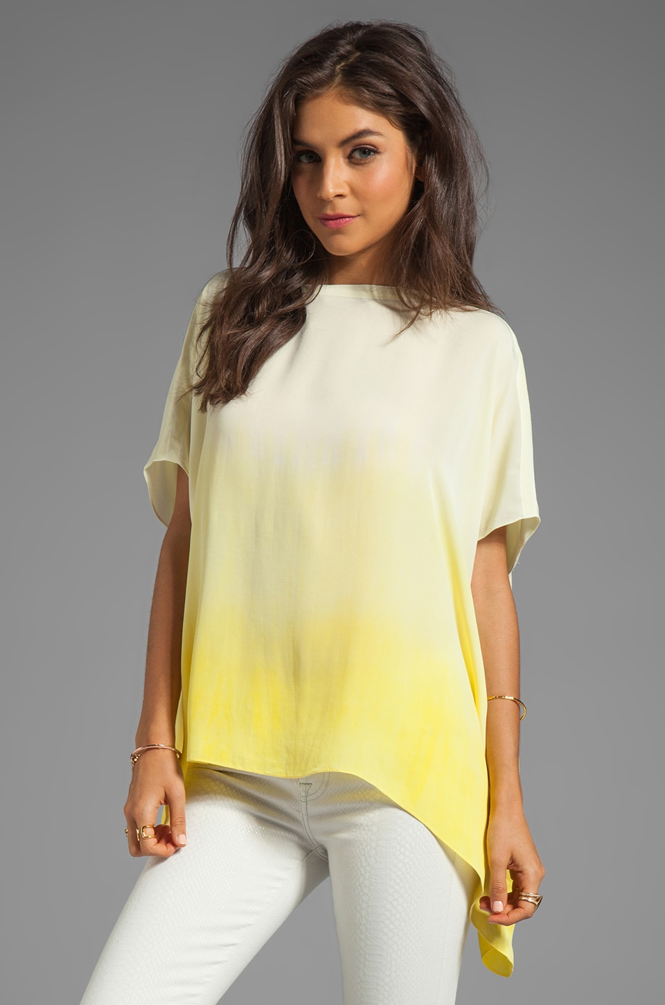 sen Milania Top in Yellow Dip Dye