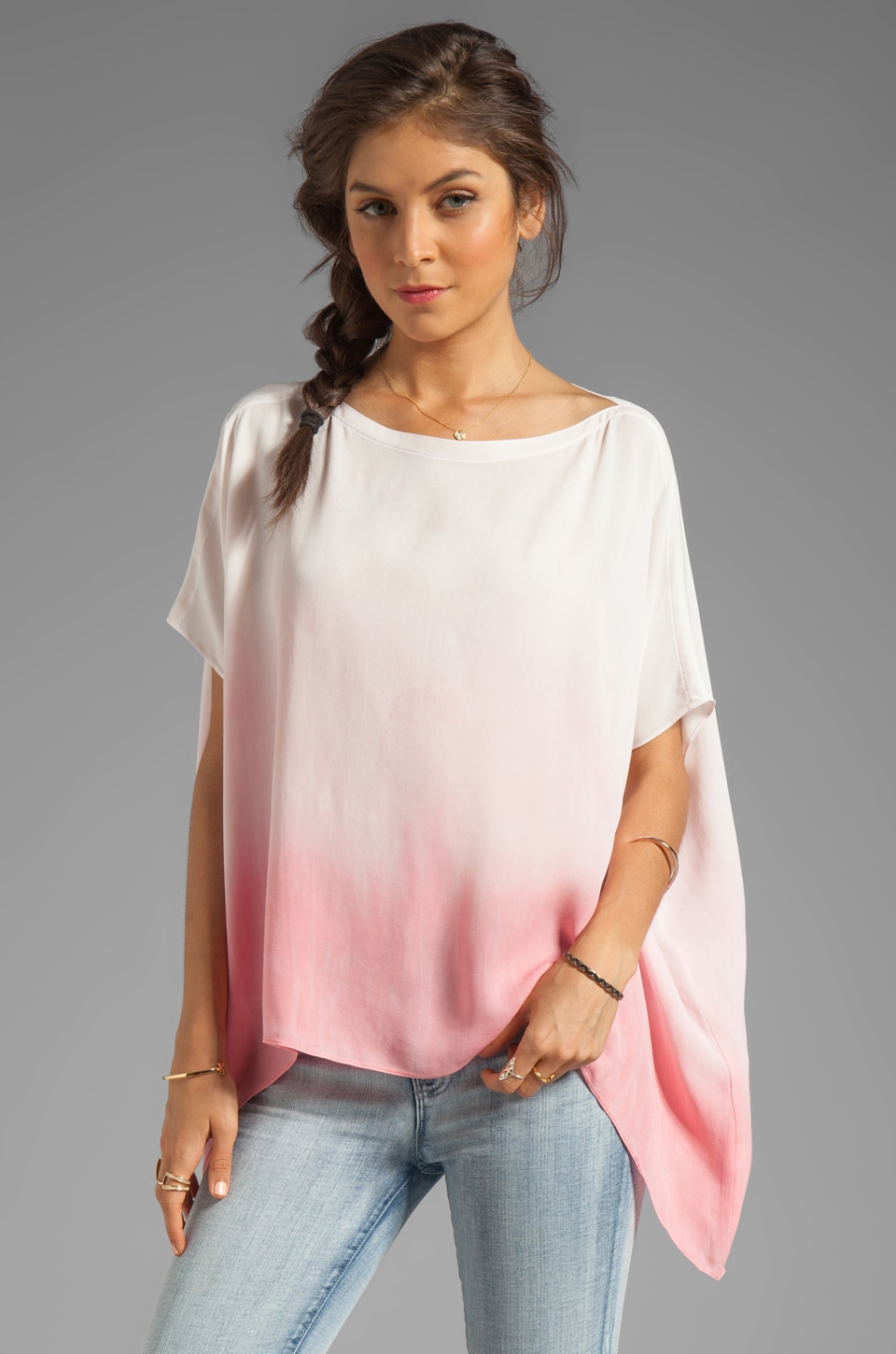 sen Milania Top in Salmon Dip Dye