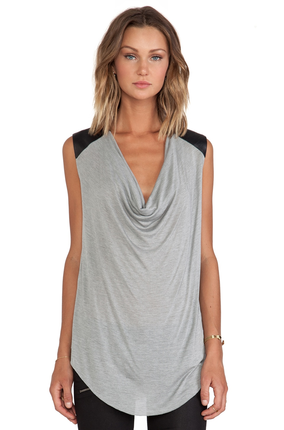 sen Dominica Top in Heather Grey & Black