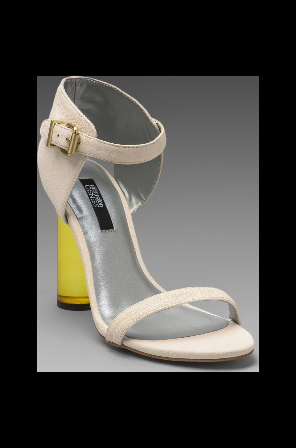 SENSO Sasha Heel in White/Gold