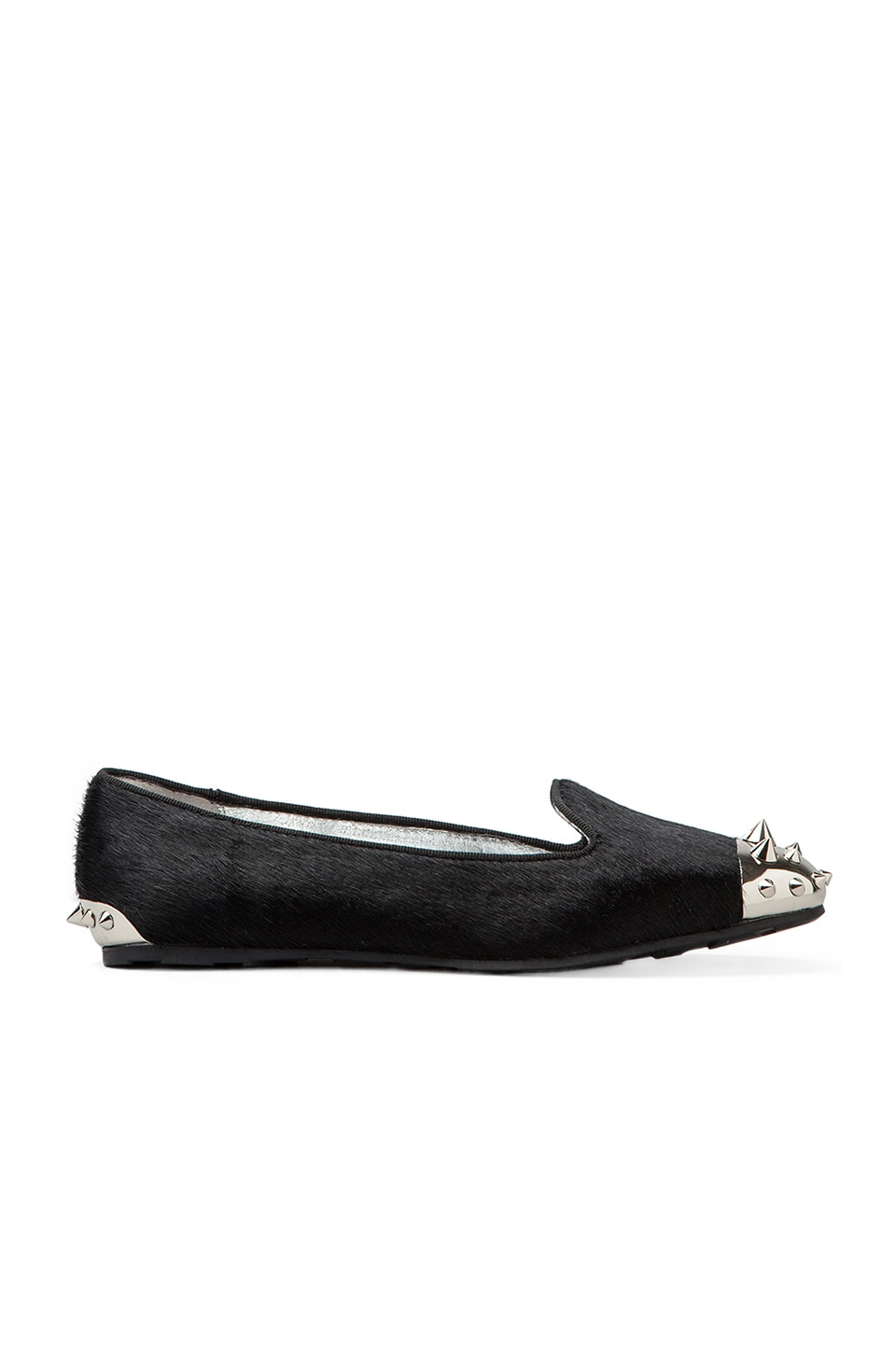 SENSO Eek I Flat with Calf Hair in Black