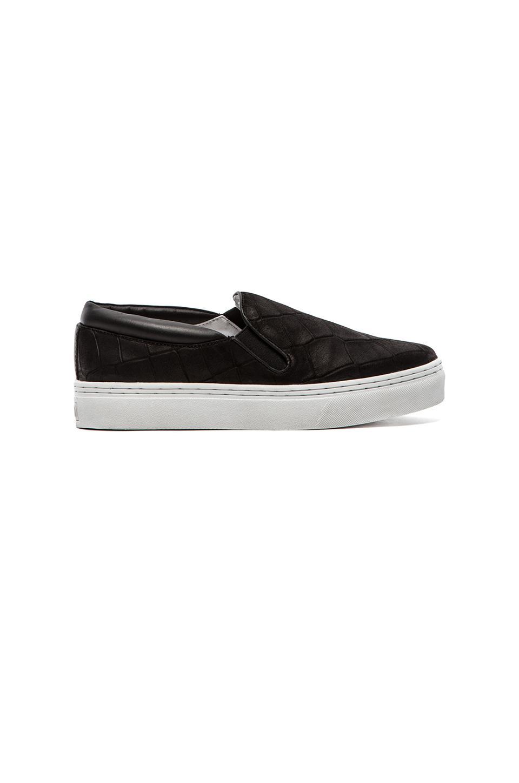 SENSO Ava IV Slip-On Sneaker in Black Matte Crocodile