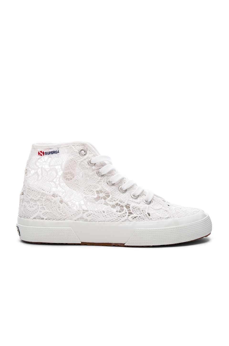 Superga 2750 Cot Macrame High Top Sneaker in White