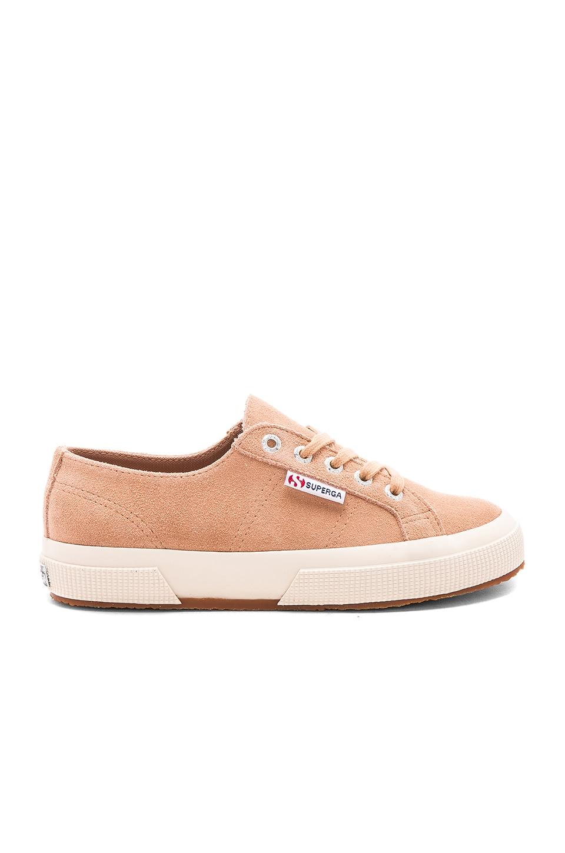 Superga 2750 Suede Sneaker in Brown Dusty