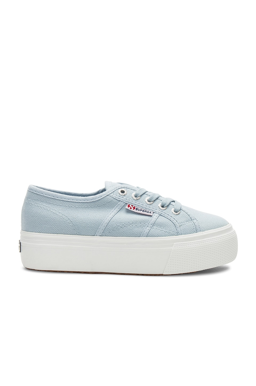 4ff63b3e105 Superga 2790 Platform Sneaker in Dusty Blue