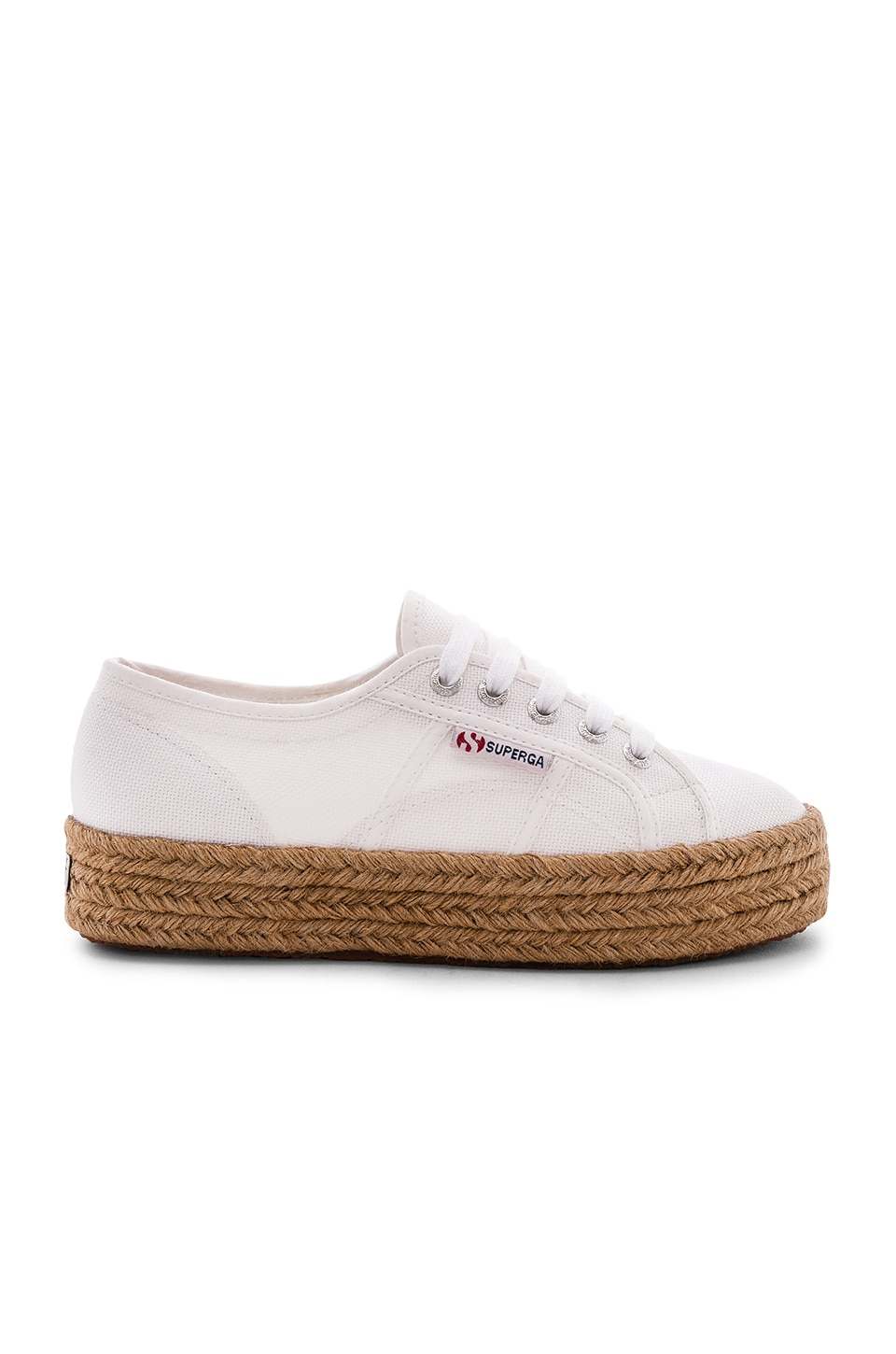 Superga Platform Espadrille in White