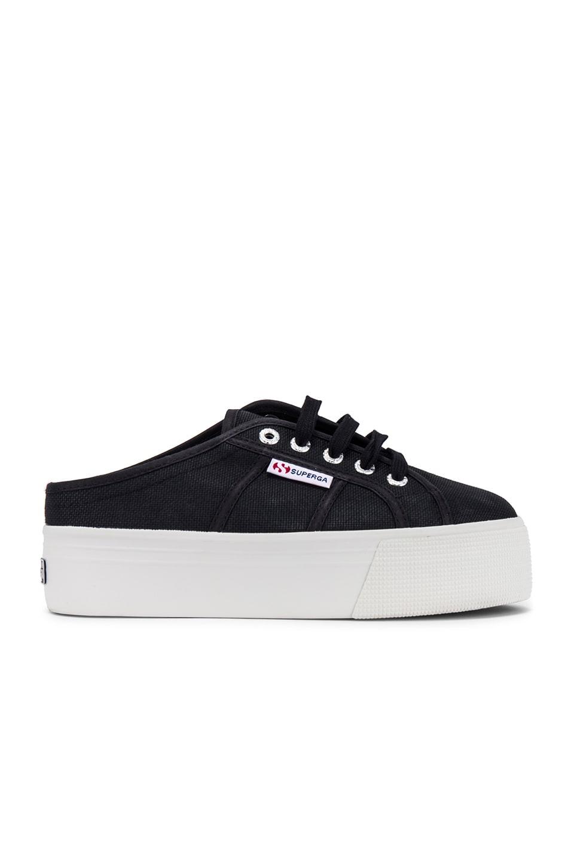Superga 2284 COTW Sneaker in Black & White