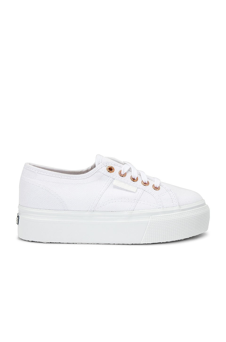 Superga 2790 Platform Sneaker in White & Rose