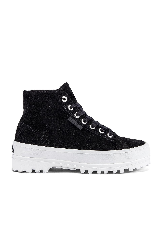 Superga 2341 SUEW Sneaker in Black & White