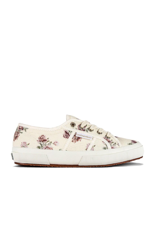 Superga x LoveShackFancy Classic 2750 Sneaker in Provence Garden Cream