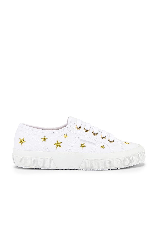 Superga 2750 EMBCOTTONW Sneaker in Stars
