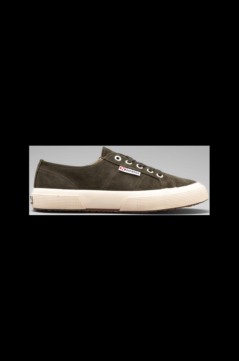 Superga 2750 Sueu Sneaker in Military Green