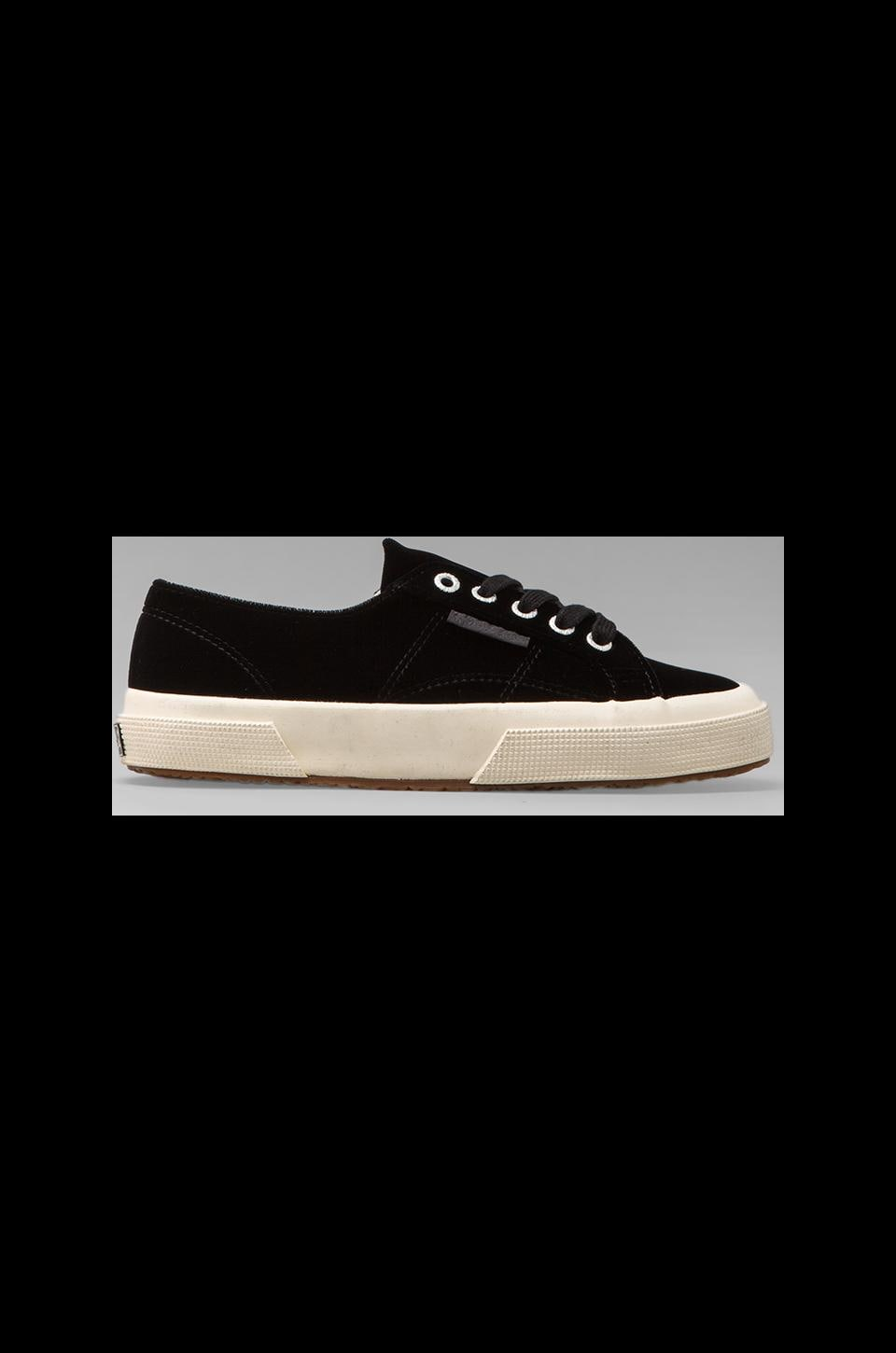 Superga Velvet Sneaker in Black