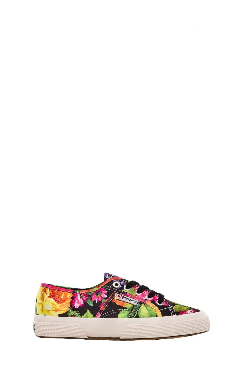 Superga Fantasy Sneakers in Hawaiian Floral Black
