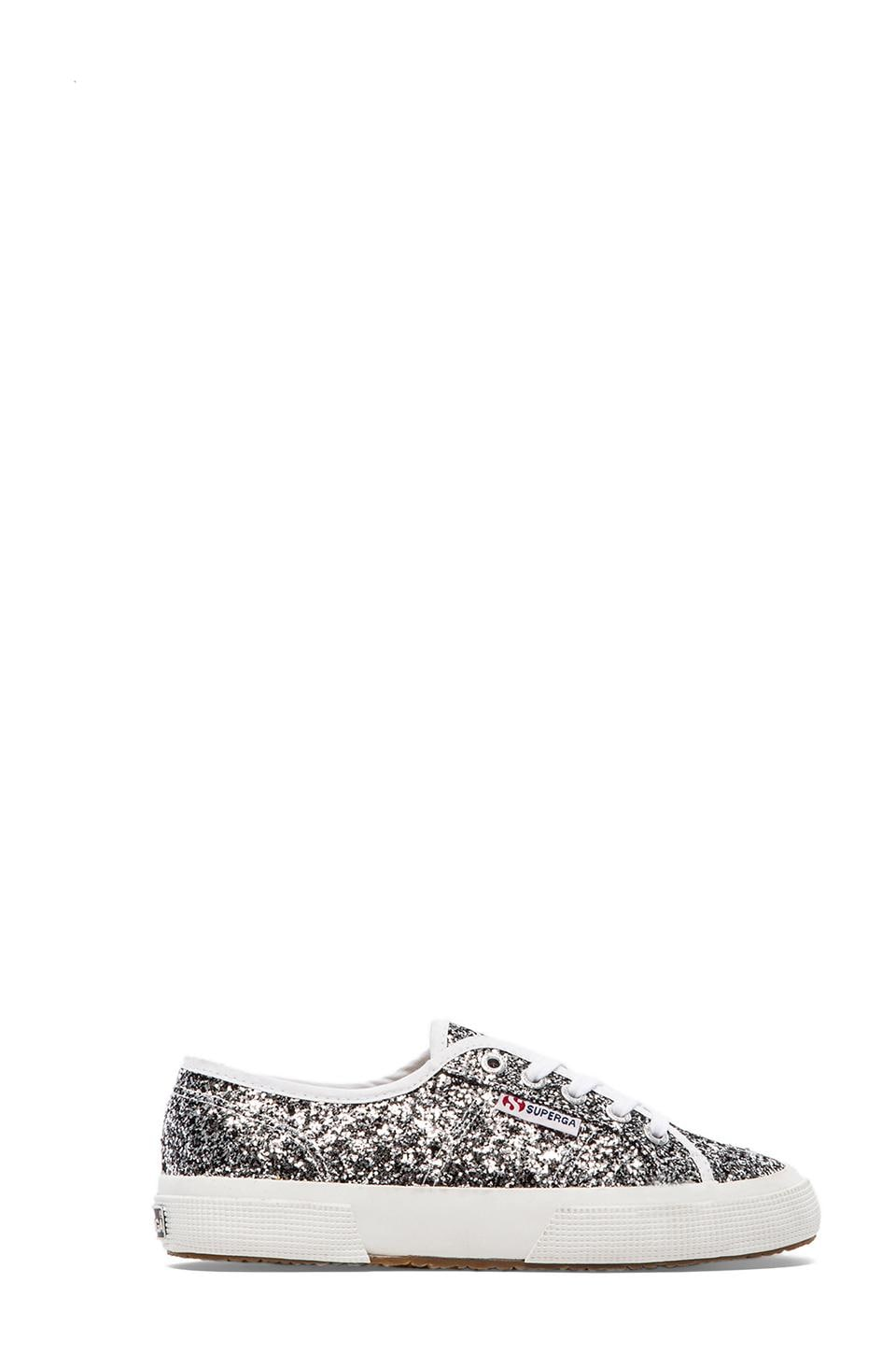 Superga Chunky Glitter Sneakers in Silver