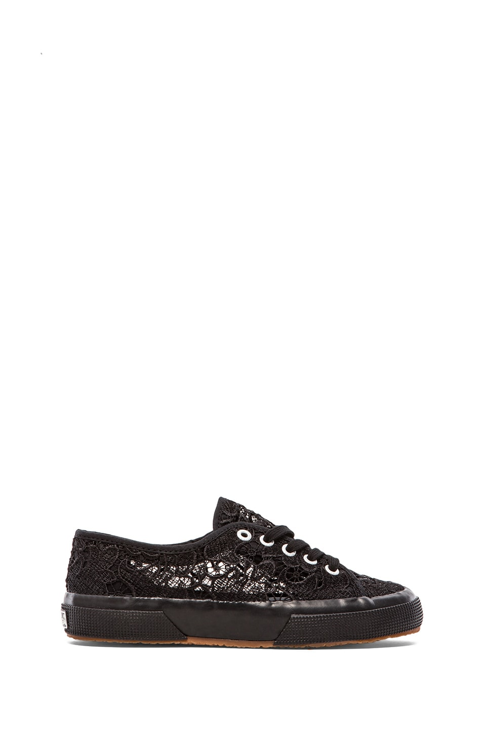 Superga Lace Sneakers in Black