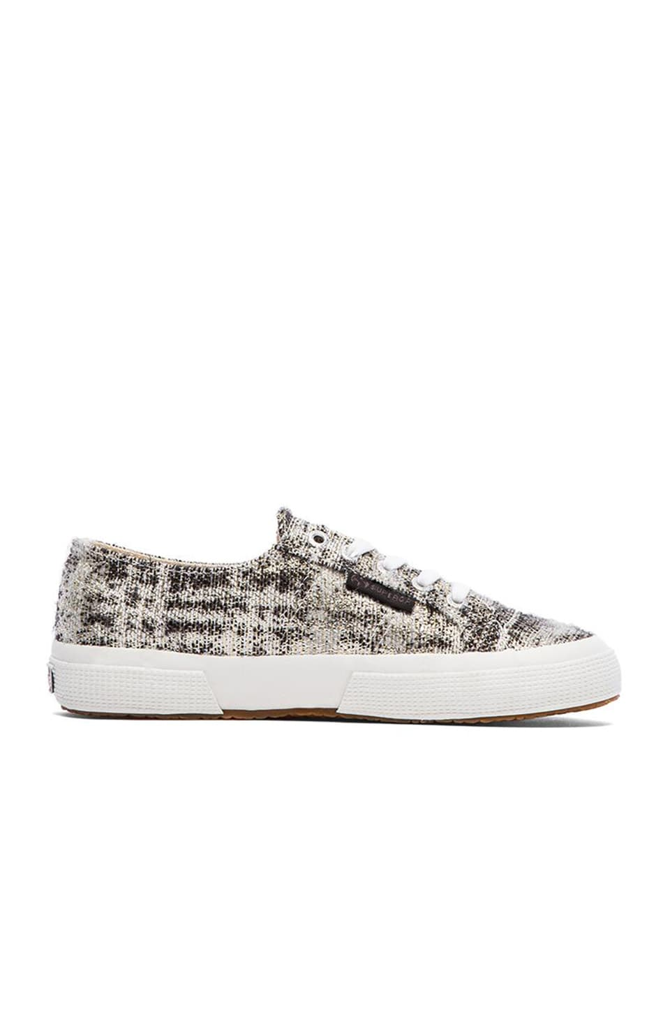 Superga Metallic Sneaker in Black
