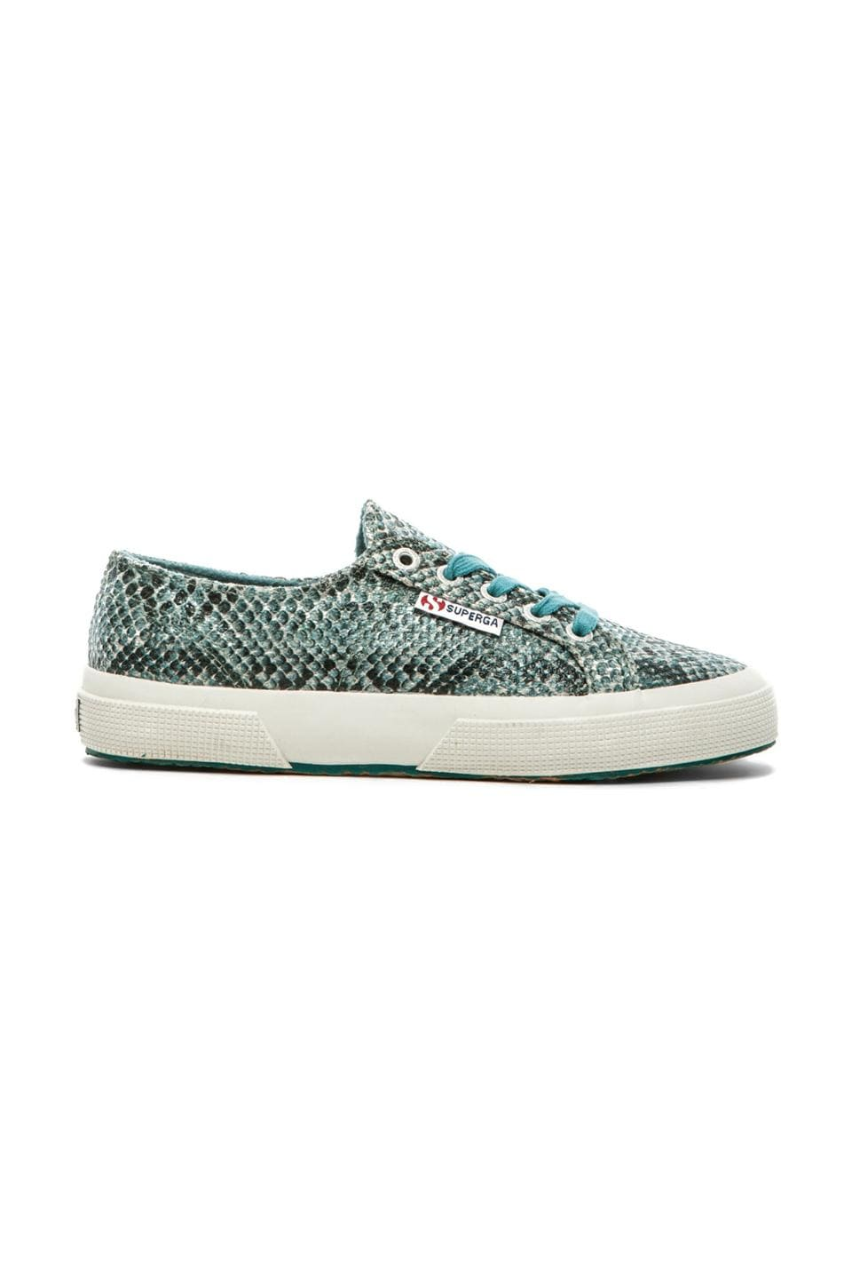 Superga Cotu Snake Sneaker in Snake Green