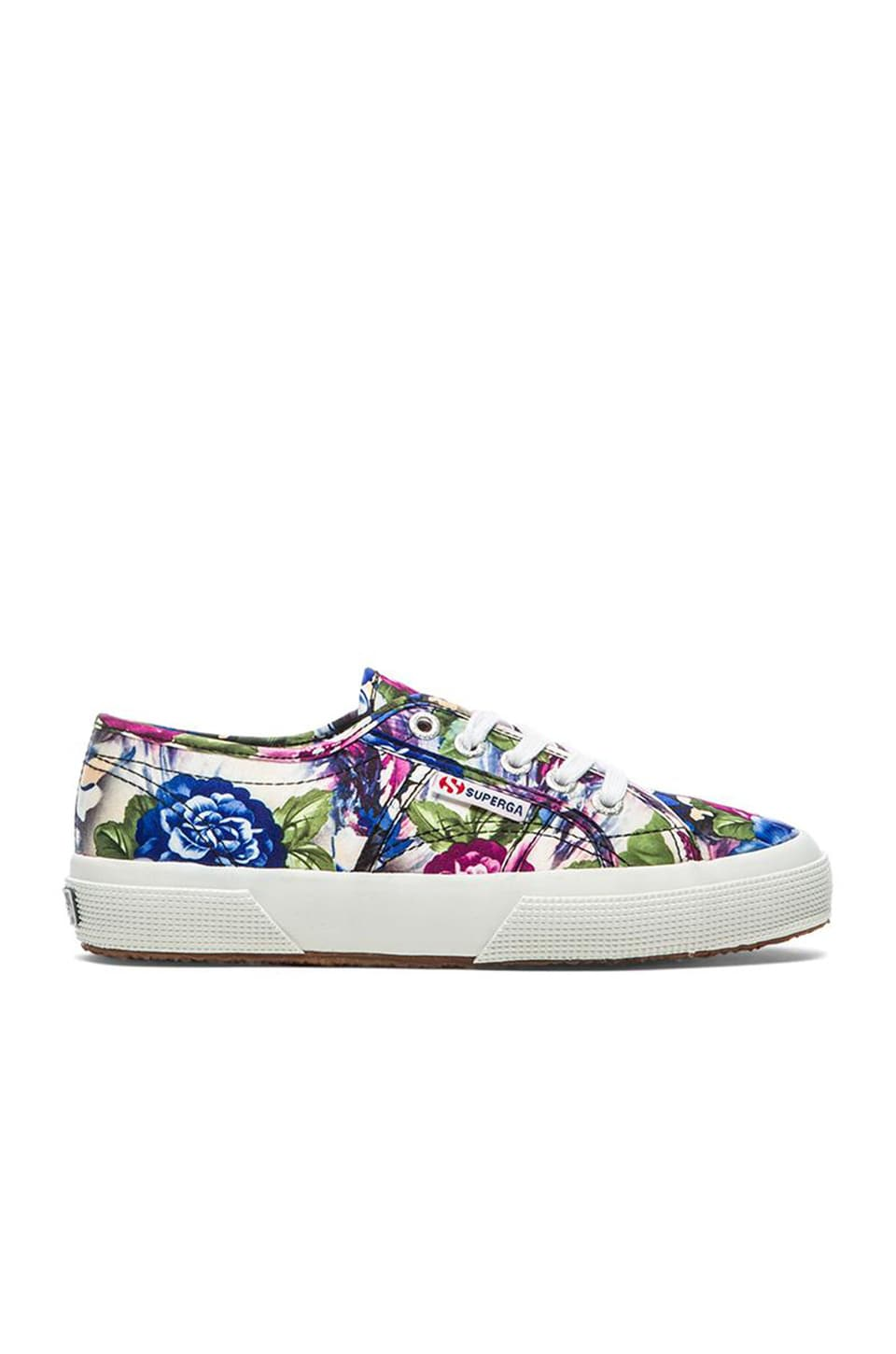 Superga Lace Up Sneaker in Violet Flower Paint
