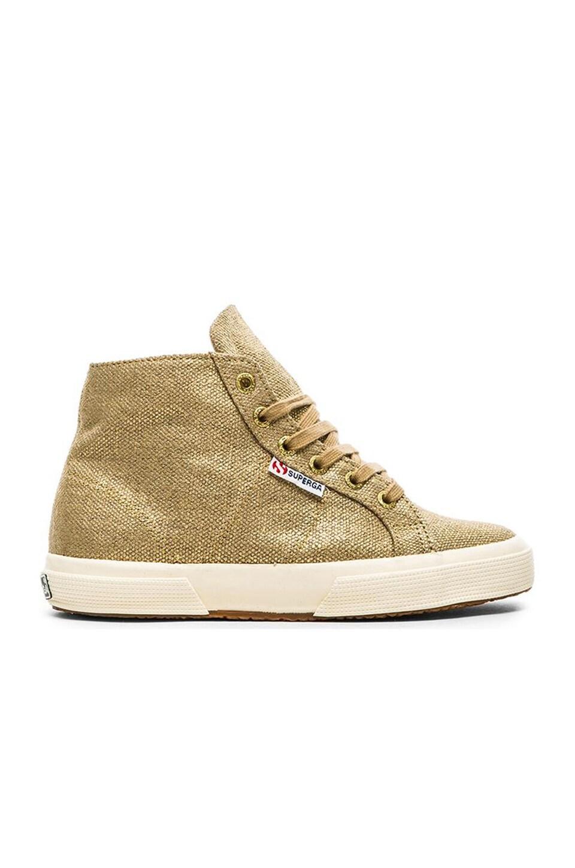 Superga Hi-Top Sneaker in Gold