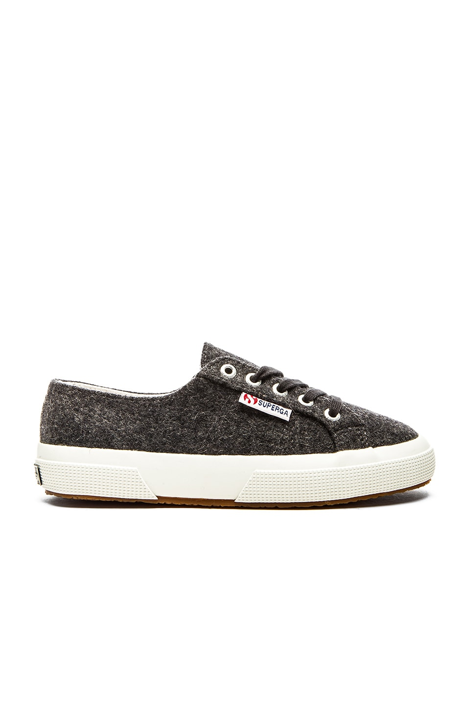 Superga Wool Sneaker in Dark Charcoal