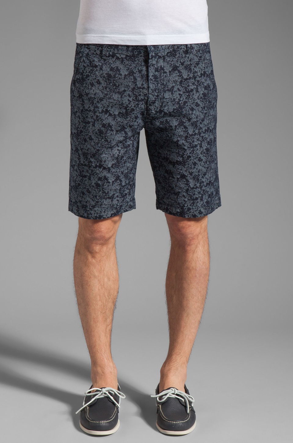 7 For All Mankind Chino Camo Jacquard Short in Indigo