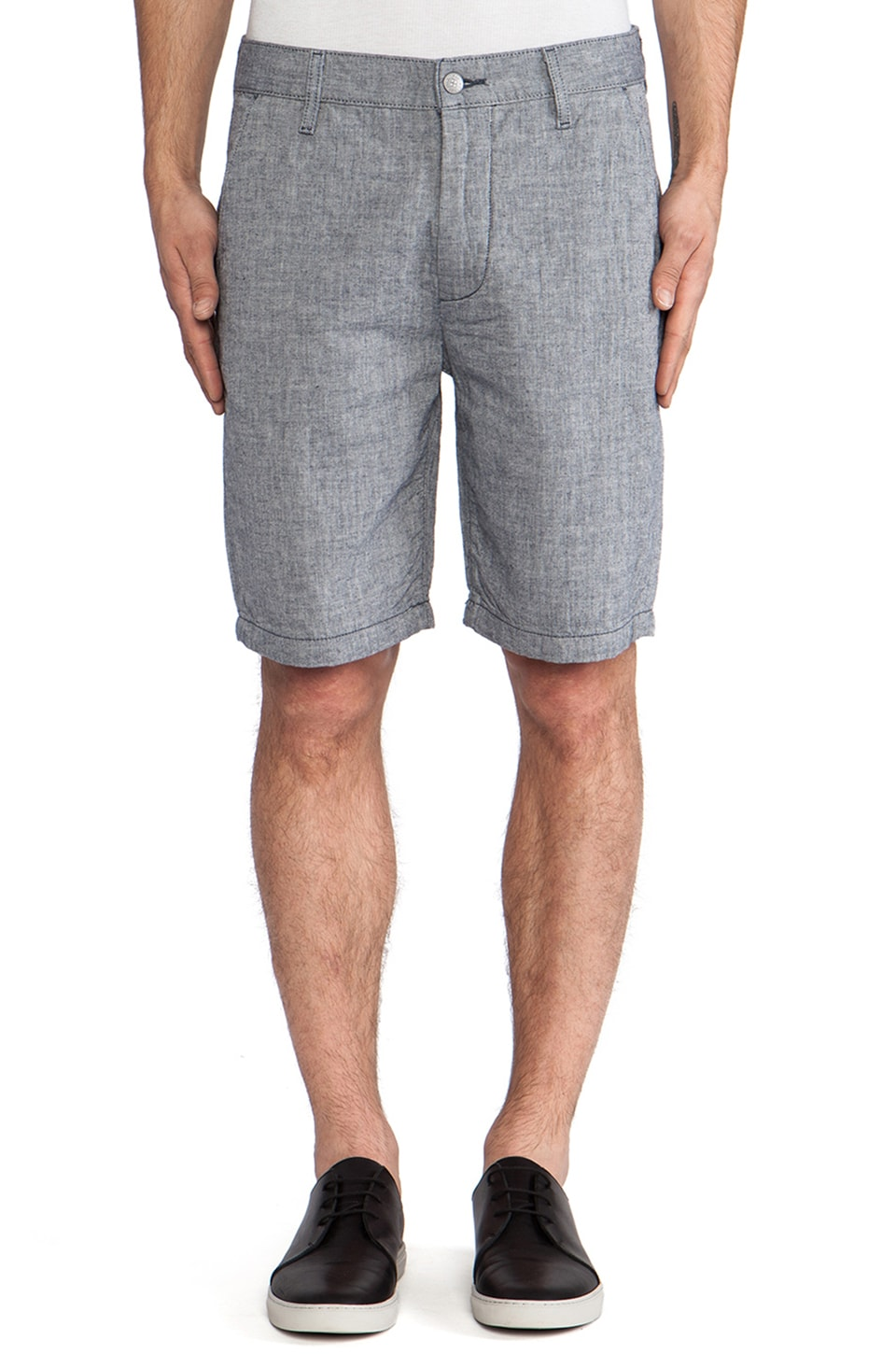 7 For All Mankind Chino Short in Indigo Stripe