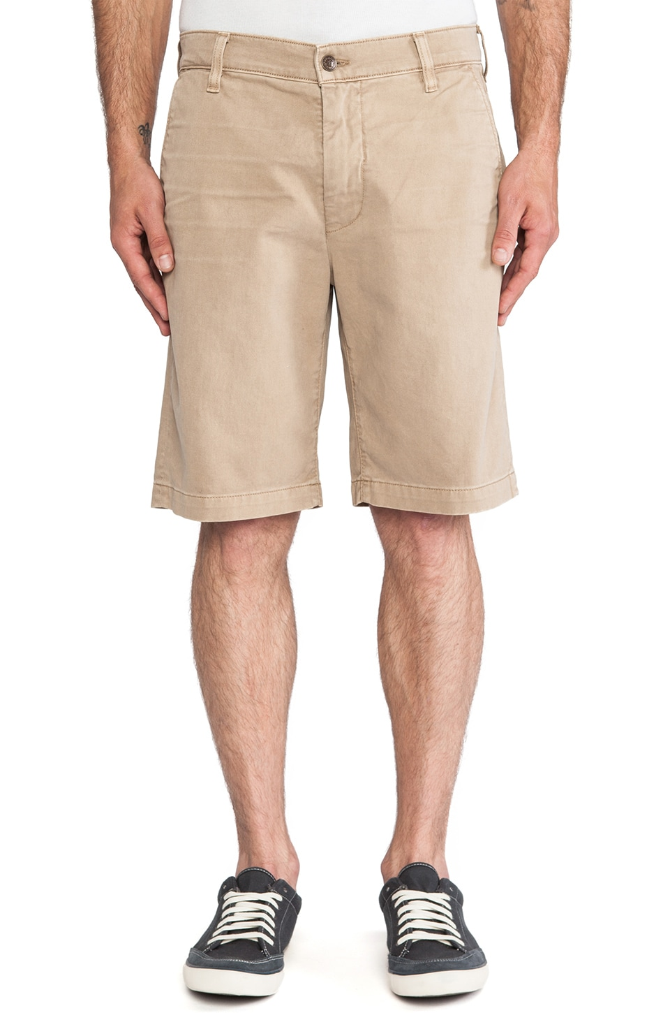 7 For All Mankind Twill Chino Short in Khaki