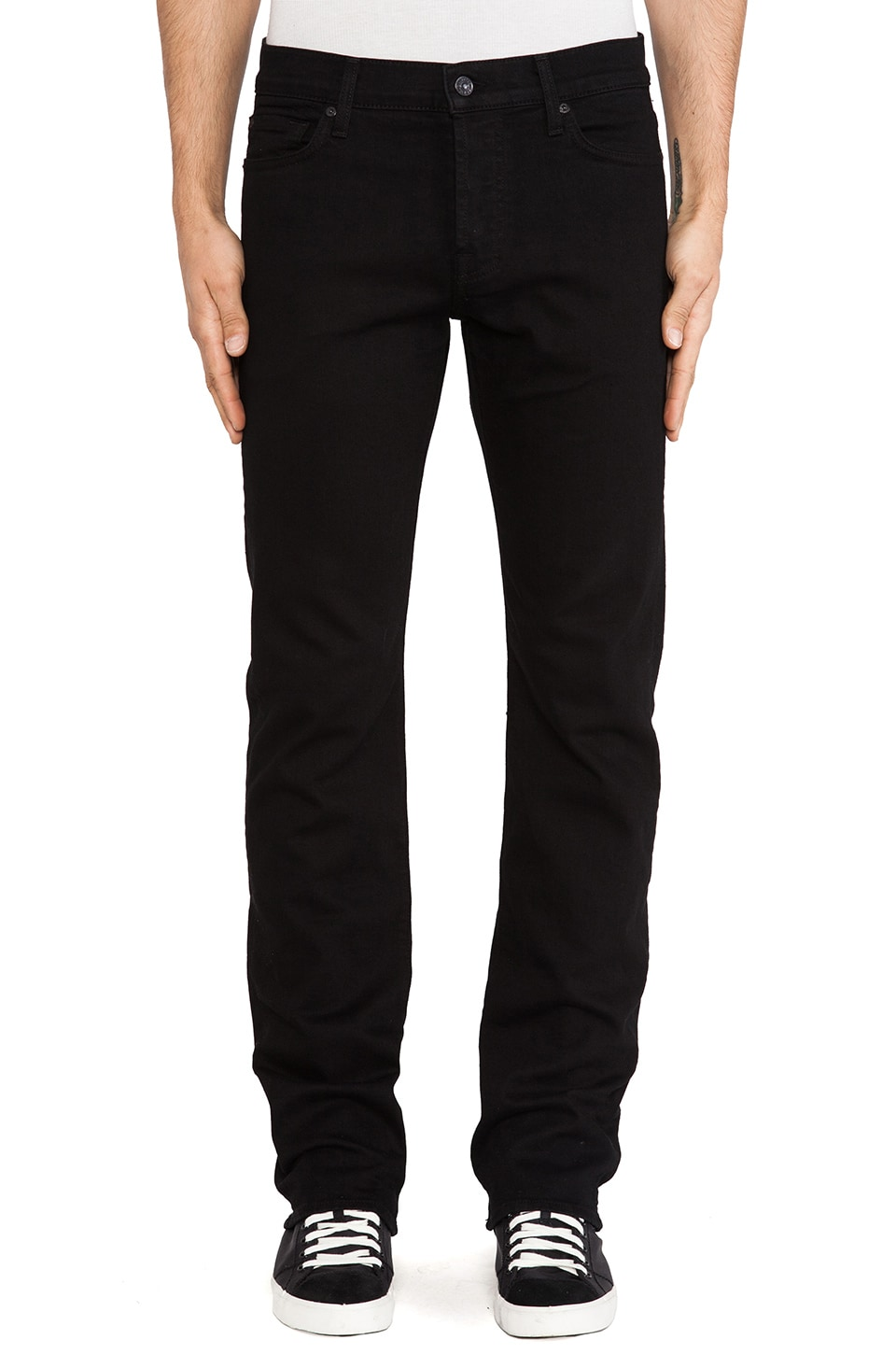 7 For All Mankind Standard in Black Out