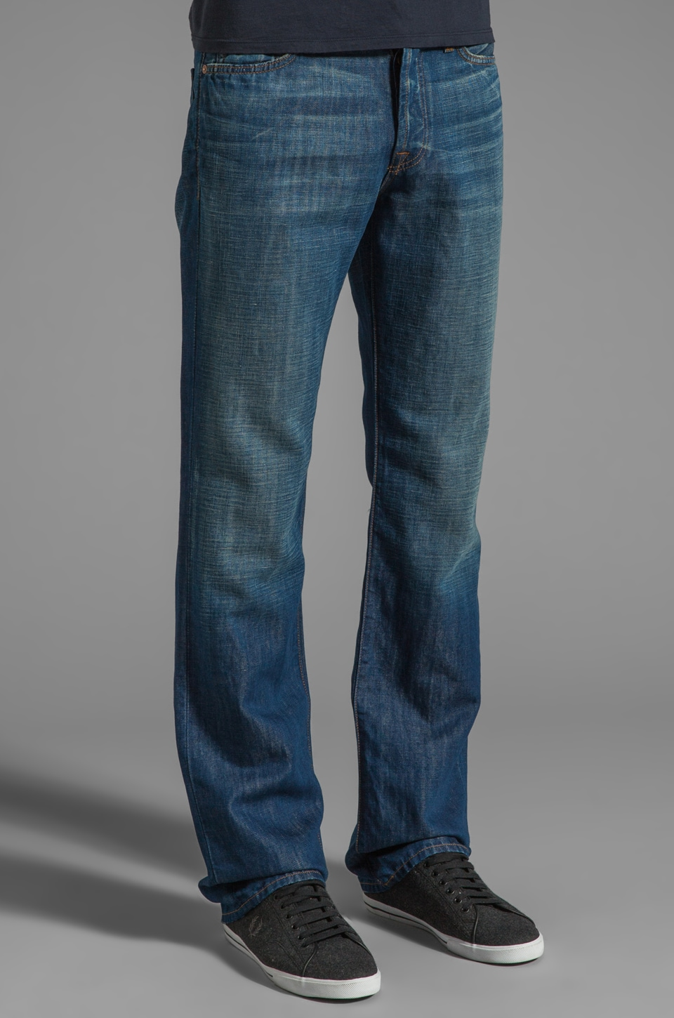 7 For All Mankind The Standard in Cotton Linen Indigo
